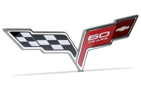 corvette emblems by year c6 corvette 2013 60th anniversary front rear badge