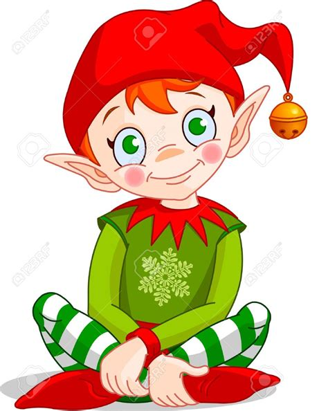 images of christmas elves sitting christmas elf clipart