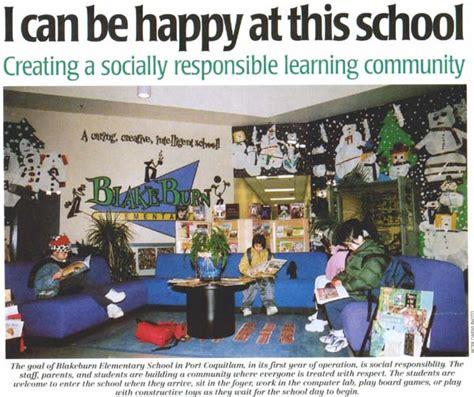 social responsibility at blakeburn elementary school