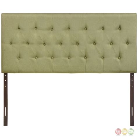 green upholstered headboard clique casual button tufted upholstered queen headboard green