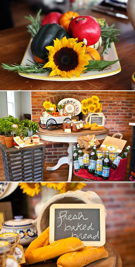 tuscan themed events a quot taste of tuscany quot italian dinner party baptism
