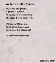 Garden Of Poem We A Garden Poem By Beatrix Potter Poem