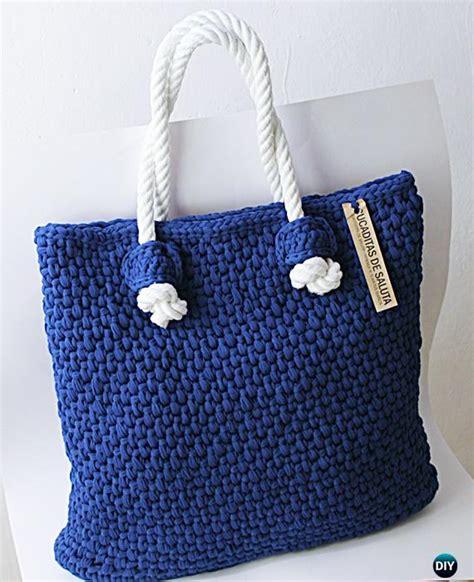 crochet pattern for knitting bag crochet handbag free patterns instructions