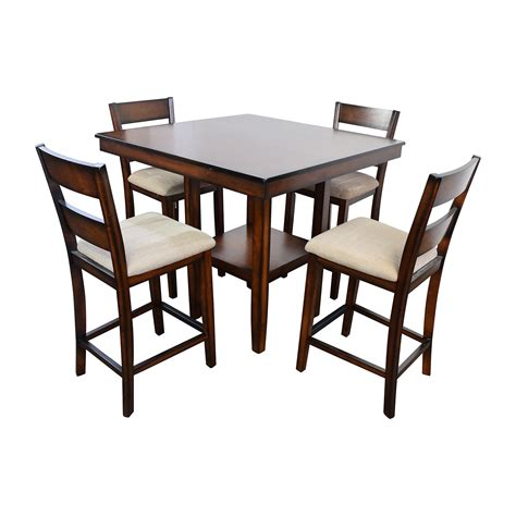 Cafe Latte Dining Table Macys Branton Pc Counter Height Dining S On Dining Room Tables Counter Height Furniture Cou