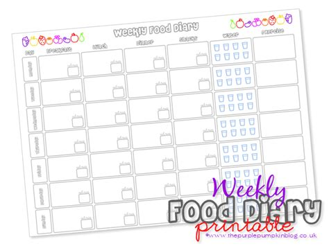 free printable food diary uk meal planner printable today is the turn of a weekly