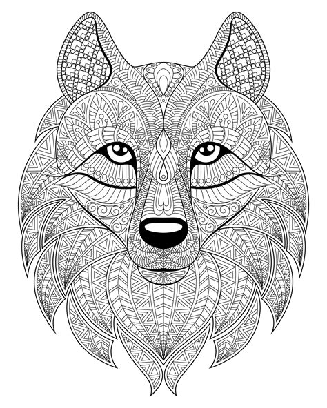 wolves coloring pages wolf complex patterns wolves coloring pages