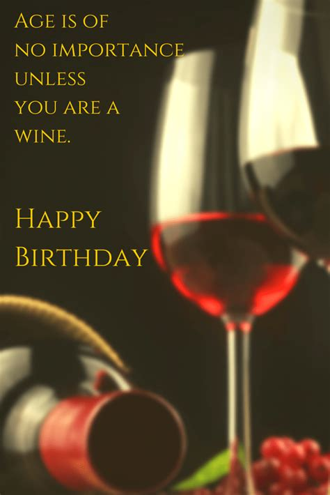 wine birthday wishes birthday card quotes