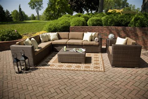 outdoor sectional seating palmetto deep seating wicker patio furniture by open air