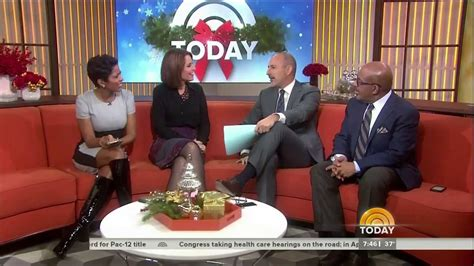tamron hall thigh high boots tamron hall in shiny black boots 6 dec 2013 youtube