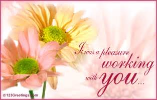 working with you free farewell ecards greeting cards 123 greetings