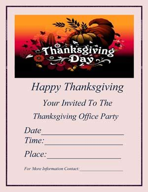 Thanksgiving Flyer Templates Small Business Free Forms Closure Flyer Template