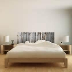 stickers muraux sticker t 234 te de lit bois ancien