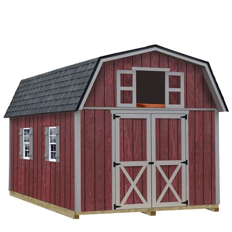 metal shed kits best barns elm 10 ft x 16 ft wood storage shed kit elm 1016 the home depot