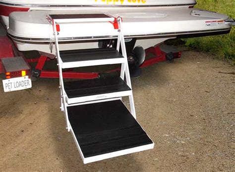 ladder for swim platform on boat the perfect dog stairs for your boat and pool great