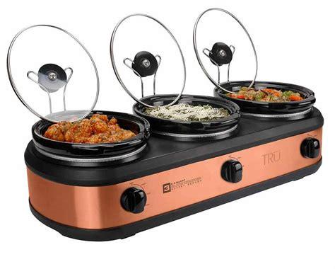 tru buffet cooker 3 crock set