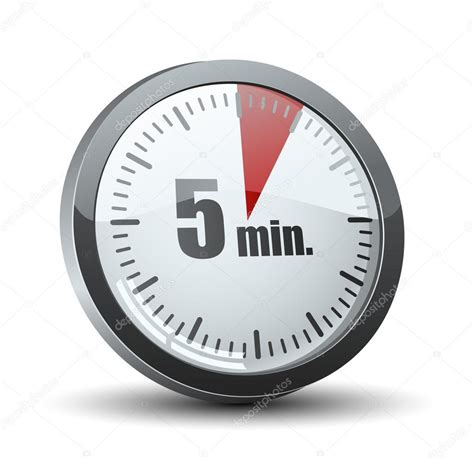 countdown timer five minutes interval modern stock vector 472172752