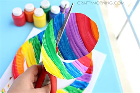 Diy Craft Projects end of the rainbow paper plate twirler kids craft