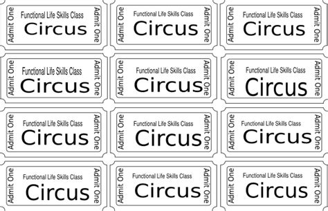 ticket template for pages carnival ticket coloring pages