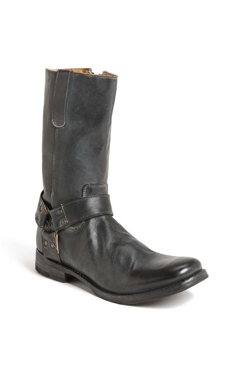 bed stu boots men bed stu libra ii zip boot in black for men lyst