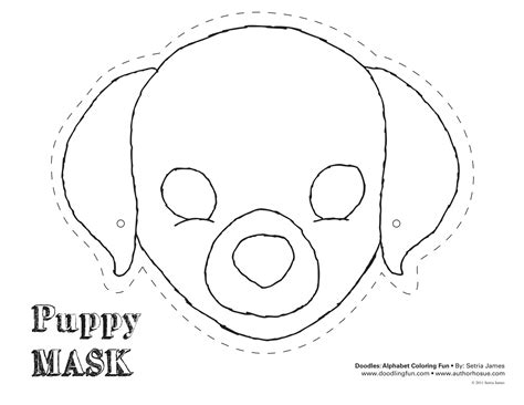 printable puppy mask masks coloring and puppys on pinterest