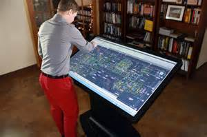 Digital Drafting Table Ideum Breaks Out 4k Versions Of Its Large Screen Multitouch Tables And Walls Images
