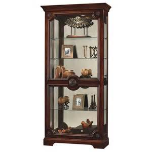Curio Cabinet Contemporary Howard Miller Ashford Cherry Contemporary Curio Display