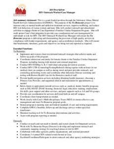 casa esperanza inc hiv outreach case manager job description mac kenzie resume gero social worker v2 7