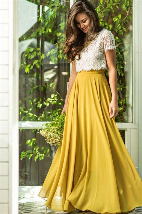 9 Gorgeous Maxi Skirts by Best 25 Chiffon Skirt Ideas On Chiffon