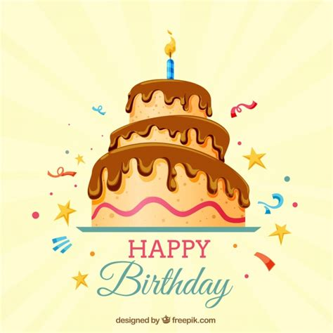 happy birthday background design vector happy birthday background with cake vector free download
