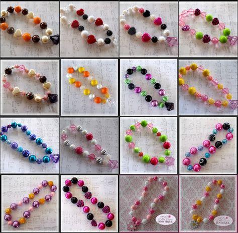 chunky bead toddler necklaces little divas bowtique