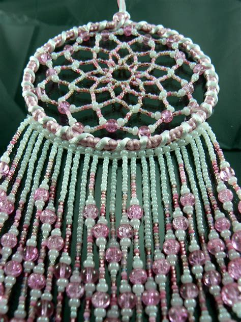 beaded dreams pink beaded catcher by winchestergems on etsy