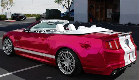 pink convertible cars creations n chrome builds a best of show winning stunner