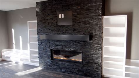 black tile fireplace fireplaces tile ideal