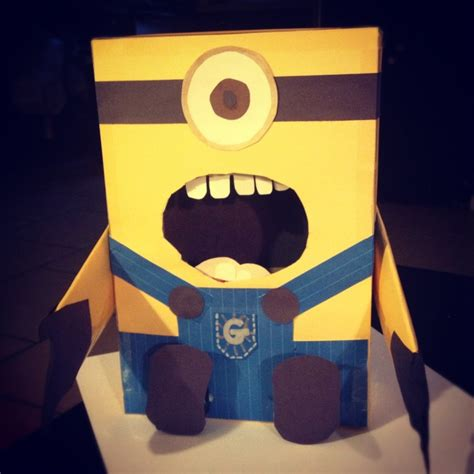 minion valentines day box despicable me minion valentines card box made from cereal