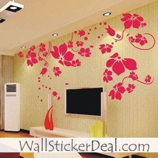 beautiful wall stickers for room interior design beautiful flower wall sticker home decorating photo