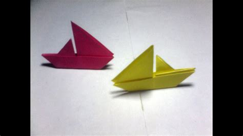 Folding Paper Boat - paper folding origami sail boat easy for