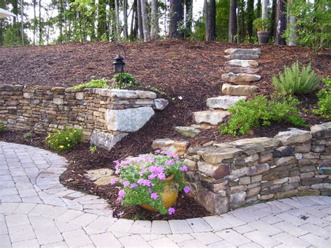 Retaining Wall Landscaping Ideas World Retaining Wall And Patio Eclectic Landscape Raleigh By Shannon Hathaway