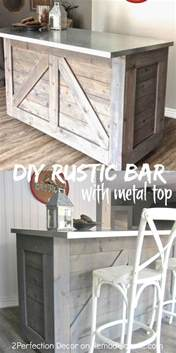 Diy Bar Cabinet Remodelaholic Ikea Hack Rustic Bar With Galvanized Metal Top