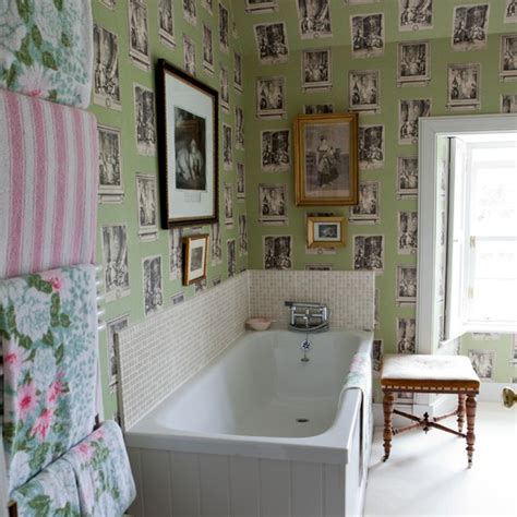 eclectic bathroom ideas eclectic feature wallpaper bathroom housetohome co uk