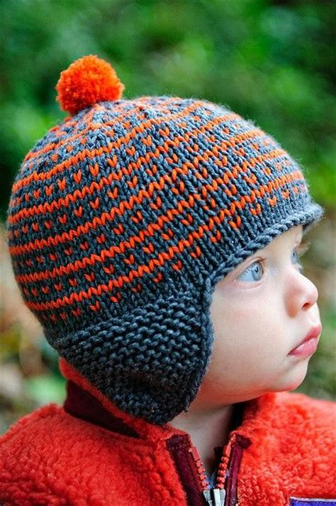 pattern knitting hat ear flaps simply fair isle go broncos so cute and ears