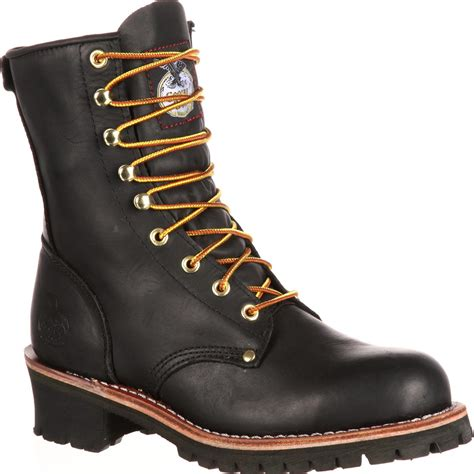 Sale Boots Bkl01 Black boot s 8 quot black logger work boots style g8120