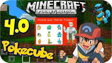 pokecube minecraft pe mods addons minecraft pe pokecube 4 0 mod 0 10 5 youtube