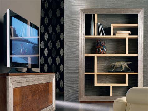 libreria con porta libreria a parete foglia argento con porta tv 201 toile day