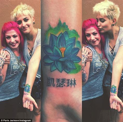 paris jackson full name paris jackson shows off second tattoo since turning 18