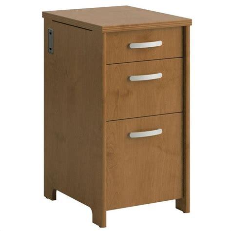 Bush Wood Furniture by Bush Envoy 3 Drawer File Cabinet In Cherry Pr76380