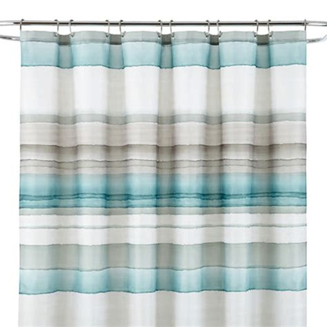 shower curtains jcpenney studio watercolor stripe shower curtain jcpenney