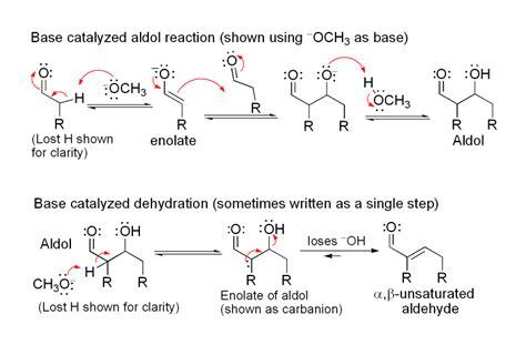 dehydration ketones organic chemistry cannizzaro or aldol condensation