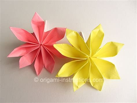 Origami Petal - origami origami 8 petal flower advanced