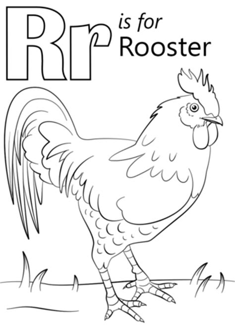 cool chicken coloring pages preschool the ideas of coloring page letter r is for rooster coloring page free printable