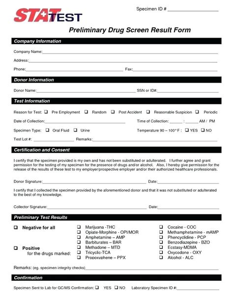 test results form template test results form template templates data